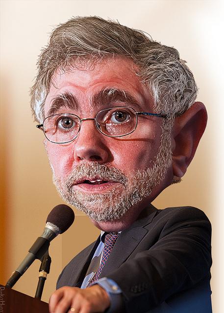Paul Krugman caricature cartoon
