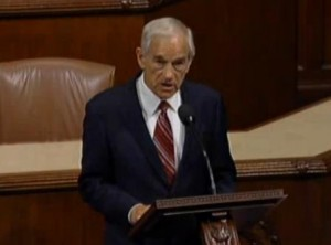 Ron Paul on House floor