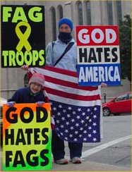 Jael Phelps Westboro Baptist Church protest