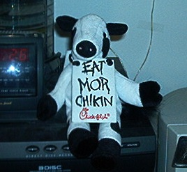 Chick-Fil-A cow toy photo/Phroziac via wikimedia commons