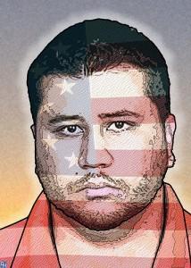 George Zimmerman donkeyhotey caricature donkeyhotey.wordpress.com