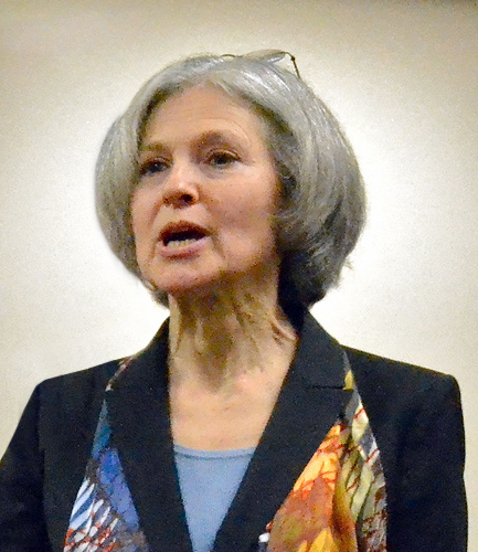 Wieland takes a video of potential Green Party presidential candidate Jill Stein in the party's regional convention Sunday afternoon. The Green Party is a national political party that aims to solve climate change immediately. It also throws much support to the Occupy movement and advocates for human rights. Wieland has been a supporter of the party for more than 10 years now. March 2012 Photo/Ardee SN
