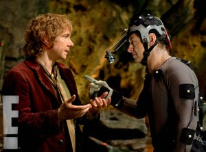 "Martin Freeman and Andy Serkis in ""Hobbit"" photo/Warner Bros"