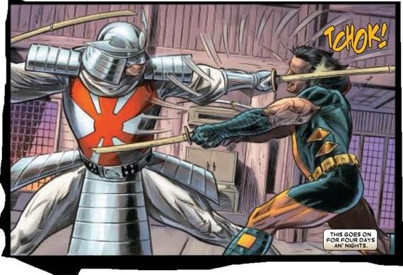 Silver Samurai battles Wolverine/Marvel Comics