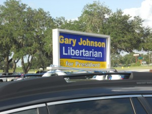 The Libertarians are well represented at the Paul Fest  Photo/The Global Dispatch-Robert Herriman
