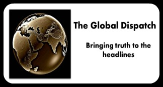 The Global Dispatch stretched logo small with frame