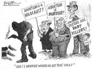 """""""Right to Deathers"""" cartoon by Joyce Mary Wallace"""
