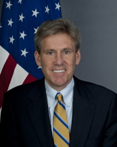 "J. Christopher Stevens, United States ambassador to Libya from May 2012 until killed in an attack on the ""safehouse"" in September 2012"