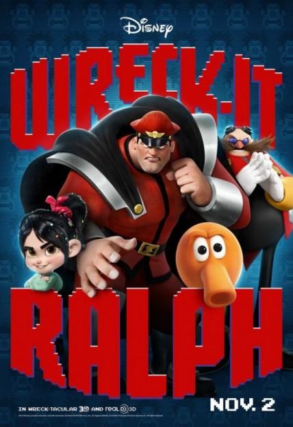 Wreck-It-Ralph-M-Bison Qbert cameo poster