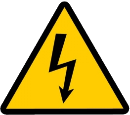 "An electric danger sign may mean ""costs ahead"" photo/public domain"