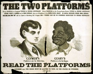 Racist poster from 1866 - Library of Congress