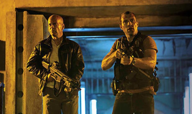 Jai Courtney, right, may be going from the Die Hard franchise to battling Terminators in the new film