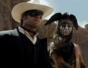 Iconic photo Lone ranger armie hammer Johnny depp tonto