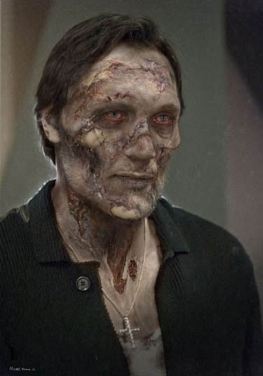 Jimmy Smits Walking Dead zombie photo