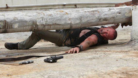 Michael Rooker Merle Walking Dead photo handcuffed to pipe