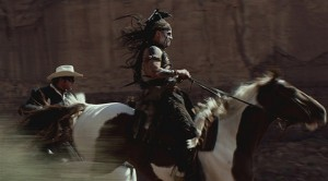Tonto and Lone Ranger on horseback