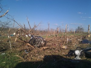 tornado which struck the town of Phil Campbell, Alabama during the April 27, 2011 tornado outbreak.  photo NWS Huntsville