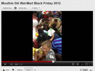 How do police with Black Friday and holiday mobs?