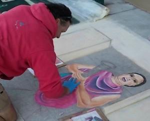 Chalk art at Disney's Festival of the Masters photo Brandon Jones