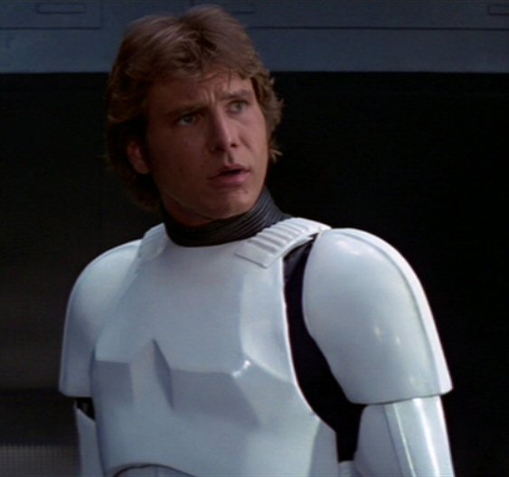 Harrison Ford as Han solo in Star Wars New Hope