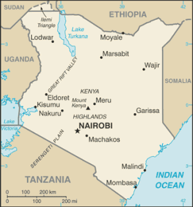 Kenya map source/CIA