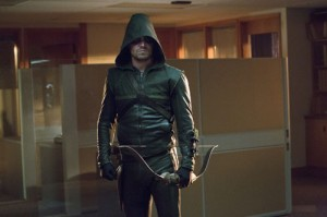 "What's in story for Oliver Queen and company in season 2?  photo: Arrow battling Royal Flush Gang in CW's ""Arrow"""