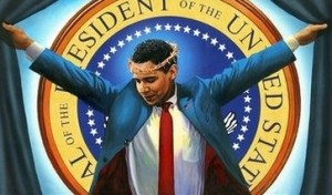 The Truth painting President Barack Obama as Jesus Christ