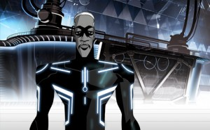"Able, voice by Reginald VelJohnson, on ""Tron: Uprising"""