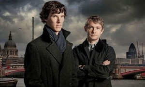 Benedict Cumberbatch Martin Freeman Sherlock photo