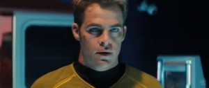 Chris Pine as Kirk star trek into darkness photo