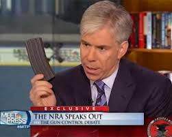 The top cop of Chicago echoes the gun ban movement. David Gregory held up a magazine on Meet the Press as the gun ban push continues.