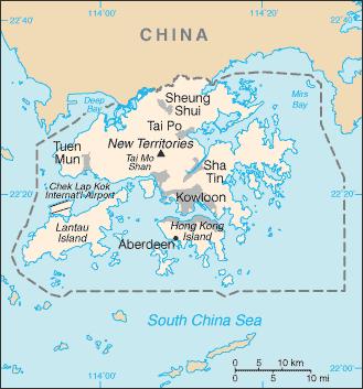 Hong Kong  Image/CIA