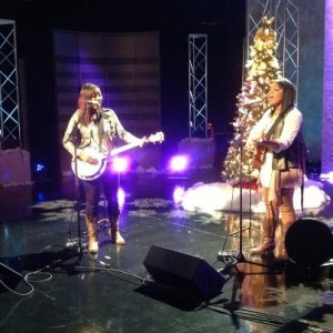 Jamie Grace and her sister Morgan performing together photo Facebook