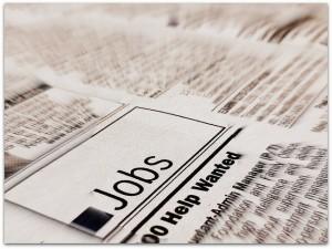 Jobs newspaper add unemployment pic