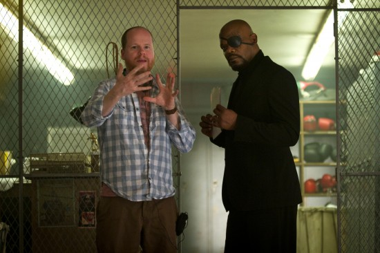 "Joss Whedon directing Sam Jack on ""The Avengers"""