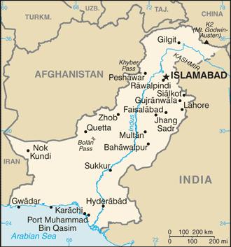 Pakistan map CIA