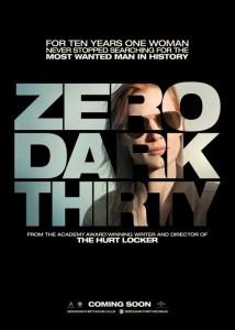 Zero Dark Thirty movie poster Jessica Chastain