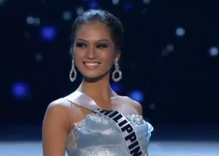 Janine Tugonon in evening gown competitionImage/ Video Screen Shot