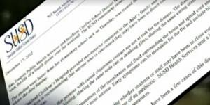 Letter sent to parentsImage/Video Screen Shot