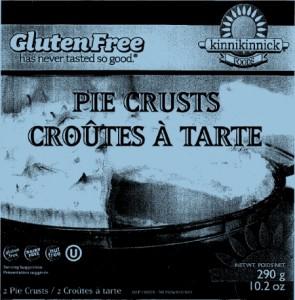 Kinnikinnick Foods brand Pie Crusts Image/CFIA