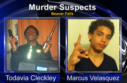 screenshot murder suspects Todavia Cleckley and Marcus velasquez