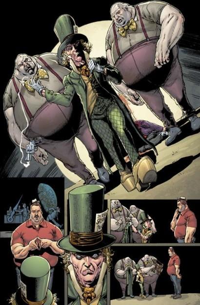 Batman-Dark-Knight Mad Hatter murder scene step ladder