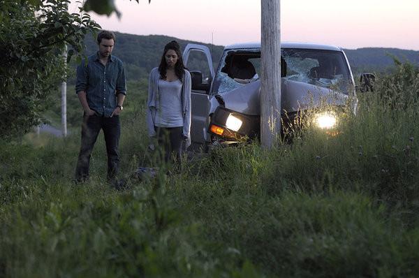 "Sam Huntington as Josh Levison, Meaghan Rath as Sally Malik  ""Being Human"" season 3 photo"