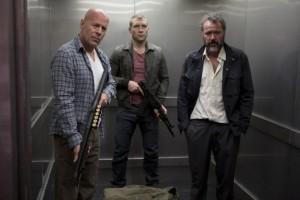 Bruce Willis Jai Courtney elevator photo Good Day Die Hard