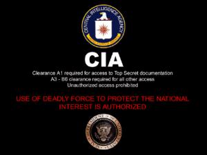 CIA black banner top secret clearance