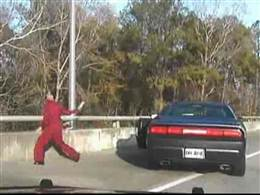 Drug bust car chase throwing drugs off of bridge
