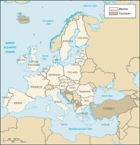 European Union Map Image/CIA