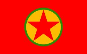 The PKK flag photo by Herrn via wikipedia