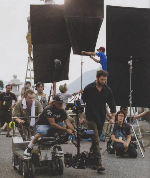 Hugh Jackman on set The Wolverine photo