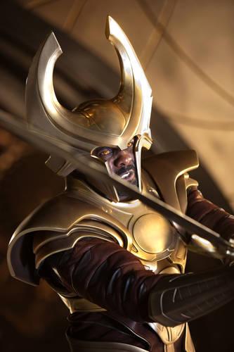 Heimdall (Idris Elba) in THOR